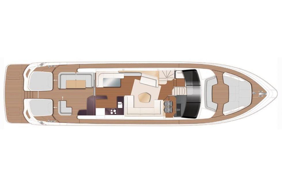 Princess V78 Main Deck Layout Plan